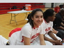 Adileni Morales-Zavala takes a break during a South Fork Basketball game